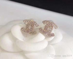 2020 G joyería de diseño de lujo pendientes de mujer con cuentas de diamantes de imitación joyería de diseño para la noche de baile de graduación mostrar pendientes de alta calidad
