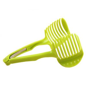 Handheld Circular Moda Lemon Slices tomate Slicer corte fruta Bolo redondo fatia clipe conveniente prática cozinha tools10