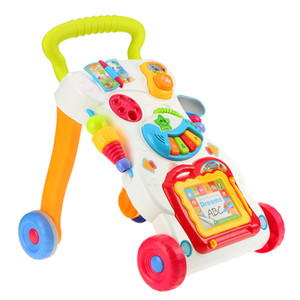 High Quality Baby Walker Multifuctional Toddler Trolley Sit-to-Stand ABS Musical Walker with Adjustable Screw for Toddler