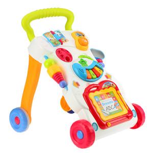 Alta calidad de bebé del niño de la carretilla Walker Multifuctional Sit-a-Coloca ABS Musical Walker, con Tornillo ajustable para el niño