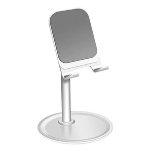 Metal Stand For Phone and Tablet Desk Phone Tablet Holder Adjustable Silver White