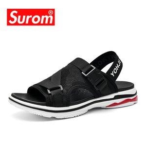 SUROM Gümrükleme Erkekler Sandalet Erkek Plaj Roman Sandalet Günlük Ayakkabılar Dayanıklı Terlikler Nefes Kaymaz Yaz Ayakkabı