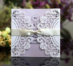 3D Greeding Card Purple Wedding Cards Party Supply High Quality wedding invitation card laser Cut Cards HC13