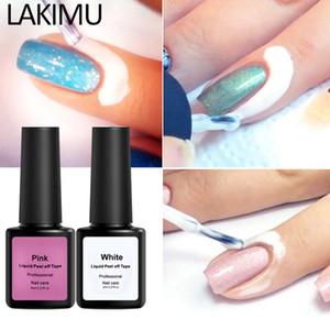 Proteção dos dedos Skin Cream Whit Latex protegido Nail Glue Easy Clean com Nipper Peel Off Líquido Tape Form Nail Polish