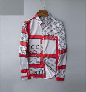 2020 tasarımcılar pamuk rahat gömlekler erkek gömlek moda yüksek kaliteli Birçok renk uzun erkek polo gömlek m-3XL manşon katı gömlek erkekler elbise