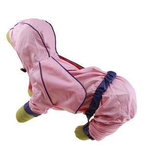 Outdoor Dog Puppy Hooded Raincoat Summer Four Feet Jacket Waterproof Windbreaker Rainwear Clothes for Small Medium Dogs