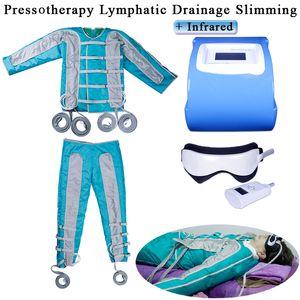 Presión del aire cuerpo adelgazamiento traje infrarrojo Presoterapia linfático drenaje máquina pérdida de peso desintoxicación equipo de belleza infrarrojo