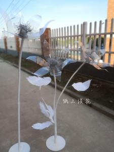 Dev Kağıt Çiçek Büyük Şakayık Çiçek Başkanı Ana Parti Düğün Dekorasyon Çiçek Fotoğraf Dikmeler Arkaplan Duvar Sahne Dekorasyon El Sanatları