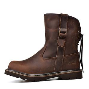 Горячие Продажа-XiaGuoCai нового прибытия кожаные ботинки Оригинальные мужские ботинки пару ретро Flats ботильоны износостойкой нескользящей Давальческие H631