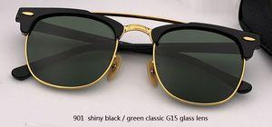 GAFAS شبه رجل نادي النظارات الشمسية الجودة النسائية العلامة التجارية UV400 الأعلى بدون شفة ساحة الكلاسيكية الشمس ماستر القيادة مصمم نظارات RD3816 Glasse XFXM