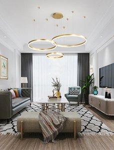 Soggiorno lampadario camera moderne lampade minimalista creativo anello di personalità della lampada di arte atmosfera casa di lusso moderno ristorante guidati