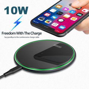 La alta calidad para iPhone 11 11Pro XS X carga del teléfono 8 10W 10W cargador inalámbrico para Samsung S9 S8 11 10 9 nota de carga rápida USB