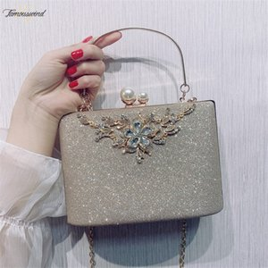 Women Handbag Silver Clutch Evening Bag Designer Women Bags Crystal Shoulder Bag Vintage Female Wedding Purse Zd1422