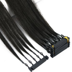 Second Generation 6D Virgin Hair Extensions Can Be customized For Hightlights hair connector salon tools Loop Micro Ring Hair Extensions