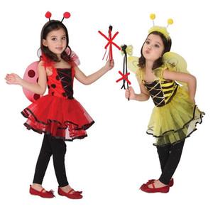 Шанхайская история божья коровка фея хэллоуин костюмы для детей девочки платья, маленькие девочки прекрасная пчела фея костюмы хэллоуин косплей костюм