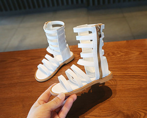 Fashion Summer Roman Size High Quality Sandals Gladiator Girls Child Toddler Sandals High-top Boots Girls Shoes Kids 21-30 Bgwkl
