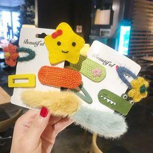 Korean women's various plush hair clips children girls bb card hair clips children fashion jewelry accessories gifts