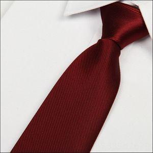 SHENNAIWEI 2016 new 8cm Wine red Neck Tie Set Ties silk tie mens microfiber neckties fashion gravata slim striped Dark red neck ties atacado