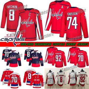 Capitales de Washington Jersey 8 Alex Ovechkin 74 JOHN CARLSON 77 TJ Oshie 70 Braden Holtby 92 EVGENY KUZNETSOV Hockey jerseys