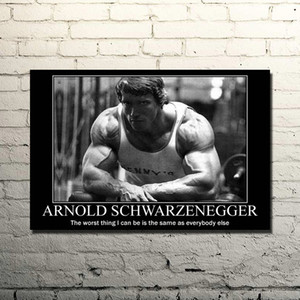 Arnold Schwarzenegger-Bodybuilding Motivational Quote Silk Poster Print 13x20 24x36inches Gym Room Fitness Sports Picture 029