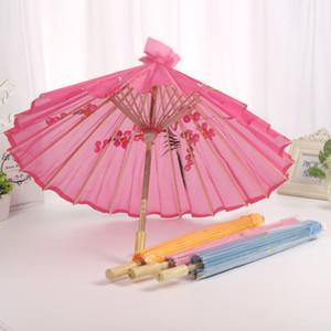 Strumenti 50PCS Handmade cinese tessuto ombrello di modo di colore della caramella di viaggio Oriental Parasol Umbrella Wedding decorazione del partito