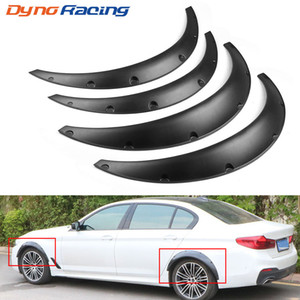 4pcs Universal Car Preto Fender Flares Mud Flaps respingo Guards Arch roda sobrancelha Lip Para Car Truck SUV