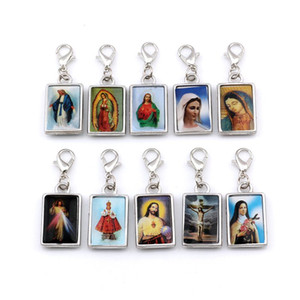 50pcs / lots biadesivo Gesù Cristo icona monili Floating catenacci Beads Charm Bracelet di fascino misura i regali di Natale 13.8x38mm A-573b