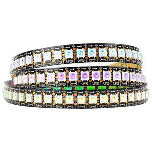 WS2812B adressables IC Pixel RGB LED Light Strip rêve couleur LED bande flexible étanche IP30 / IP65 DC5V Noir PCB