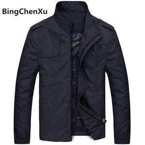 Bingchenxu Katı Renk Ceket Erkekler Marka Ceketler Moda Trend Slim Fit Casual Erkek Ceket Ve Mont M-4XL 2019 Veste Homme 487MX191012