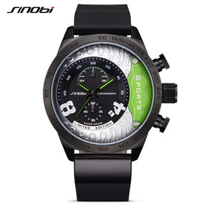 SINOBI New Chronograph Watch Male Military Wristwatches Waterproof Geneva Quartz Clock Men's Sports Relogio Masculino Racing