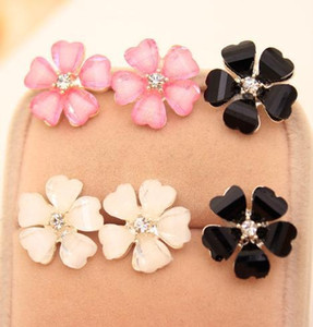 Серьги для женщин Клевер цветок Кристалл серьги для женщин ювелирные изделия белый диаметр канала серьги