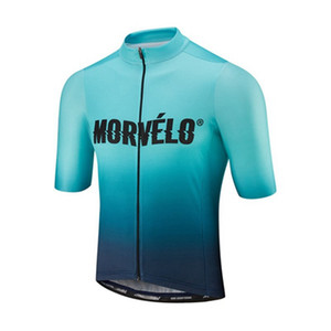 New 2019 Pro Men Morvelo Cycling Jersey Bicycle Clothing Short Sleeve Bike Wear Outdoor Sports Maillot Ciclismo K052918