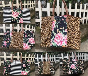 Çizgili Çiçek Leopar Duffel Çanta Büyük Seyahat kamuflaj camo Tote patchwork çanta Çift Kolları Sarah Haftasonları Çanta DC495