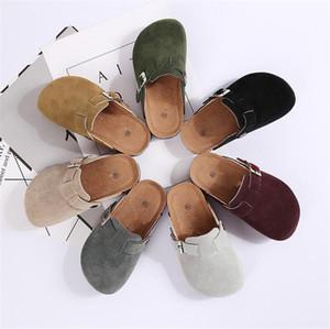 Ragazze Pantofole per bambini ragazzi Cork Home pattini bambino bambini moda in pelle Sandali Casual 2020 Autunno confortevole Pantofole per i bambini