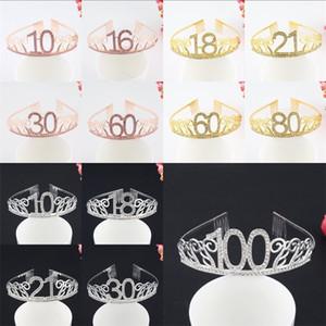 16 18 20 Doğum Günü Dijital Taç Gelin Ziyafet Saç Süs Çeşitli Desen Ile Yaratıcı Moda Kıllar Hoop 7yc J1