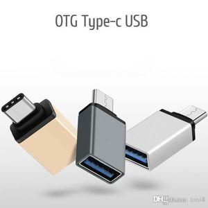 Metal USB 3.1 adaptador OTG Tipo C Masculino para USB 3. 0 Adaptador OTG feminino Para Macbook Google Chromebook
