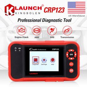 Lanzamiento X431 Creader VII Plus VII + Lector de código automático OBD2 OBD 2 Escáner Lanzamiento CRP123 Herramienta de diagnóstico automotriz OBDII Herramienta de diagnóstico automotriz