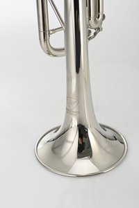 MARGEWATE New Arrival Bb Trumpet B Flat Brass Nickel Plated Playing Musicla Instrument Bb Trumpet with Mouthpiece Case