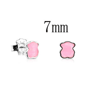 ZOUDKY NEW 100% 925 Sterling Silver Cute Spain Bear Earring 815433610 Fashion Simple Women's Original Jewelry Birthday Gifts
