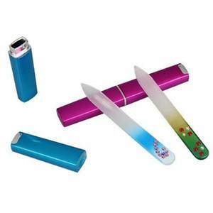 Kristall-Diamant-Glasfeile Maniküre Device Tool mit dem Kasten Durable Nail Art Buffer Feilen Professionelle Polieren Schleifen Kits