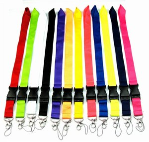 CellPhone Lanyard Straps Clothing brand Keychain Phone Keys Camera IDs Badge Holder Detachable Buckle White Black PINK Red lanyards