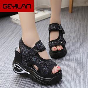 Kadınlar Sandalet MECEBOM Yaz Yeni Moda Platformu Sandalet takozları Kalın Alt Casual Kadın Ayakkabı Rahat Beyaz 5251W