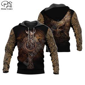 PLstar Cosmos Viking Warriors Tattoo NewFashion Tracksuit casual Pullover 3DPrint Zipper Hoodie Sweatshirt Jacket Men Women s-15 Y200704