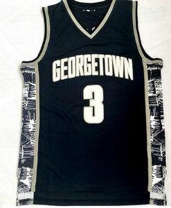 Top 2020 Ewing 33 Iverson 3 Loja online Fã Georgetown College Basketball Jersey instrutor do esporte barato mens Formação desgaste College Basketball