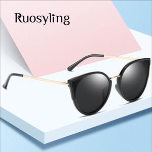 Ruosyling Fashion Cat Eye Sunglasses Women Men Polarized Sun Glasses TAC Lens UV 400 Vintage Eyewear Outdoor Sun Glasses Girls