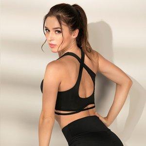 Aipbunny 2020 Black Woman yoga di forma fisica di sport Bra esecuzione di allenamento Top imbottito reggiseni push Bassiera Shake-proof Up Gym Underwear