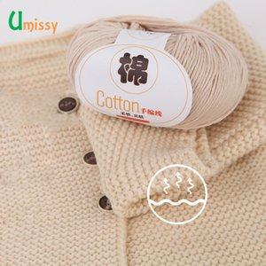 Umissy Garn für Hand Knitting Cotton 100% Weiches Combed Thema Häkeln 500g Garn Hand Stricken Bunte Bio-Garn 10pcs / lot T200601