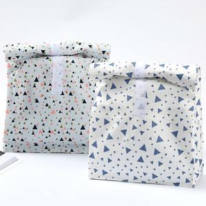 Печатный холст обед мешок коробка Экологически Дружественные Белого алюминий Фильм Lunch Box Открытого Пикник изоляция мешки DHL WX9-1865