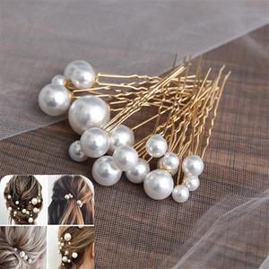 ashion Jewelry Hair Jewelry Women U-shaped Pin Metal Barrette Clip Hairpins Simulated Pearl Bridal Tiara Hair Accessories Wedding Hairsty...