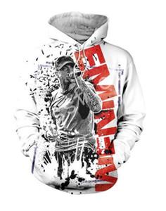 Nova Chegada Estilo de Hip Hop Tessffel Eminem 3D Imprimir Homens Mulheres Moda Hoodies frete grátis RG065